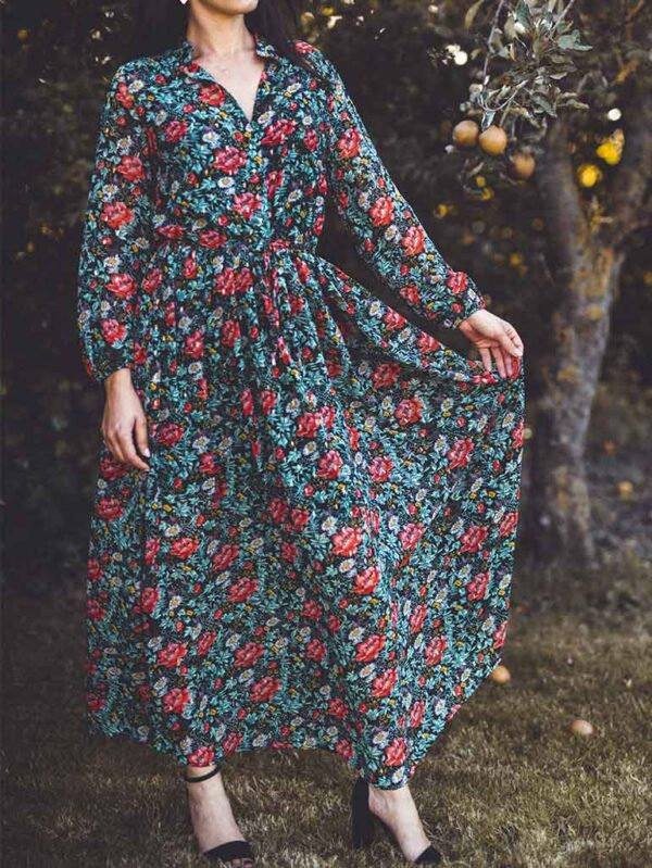 Robe longue Amla Fleurie