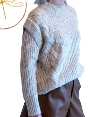 Pull Cocoon beige